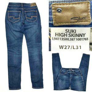Silver Jeans SUKI High Skinny W27 L31 Stretch